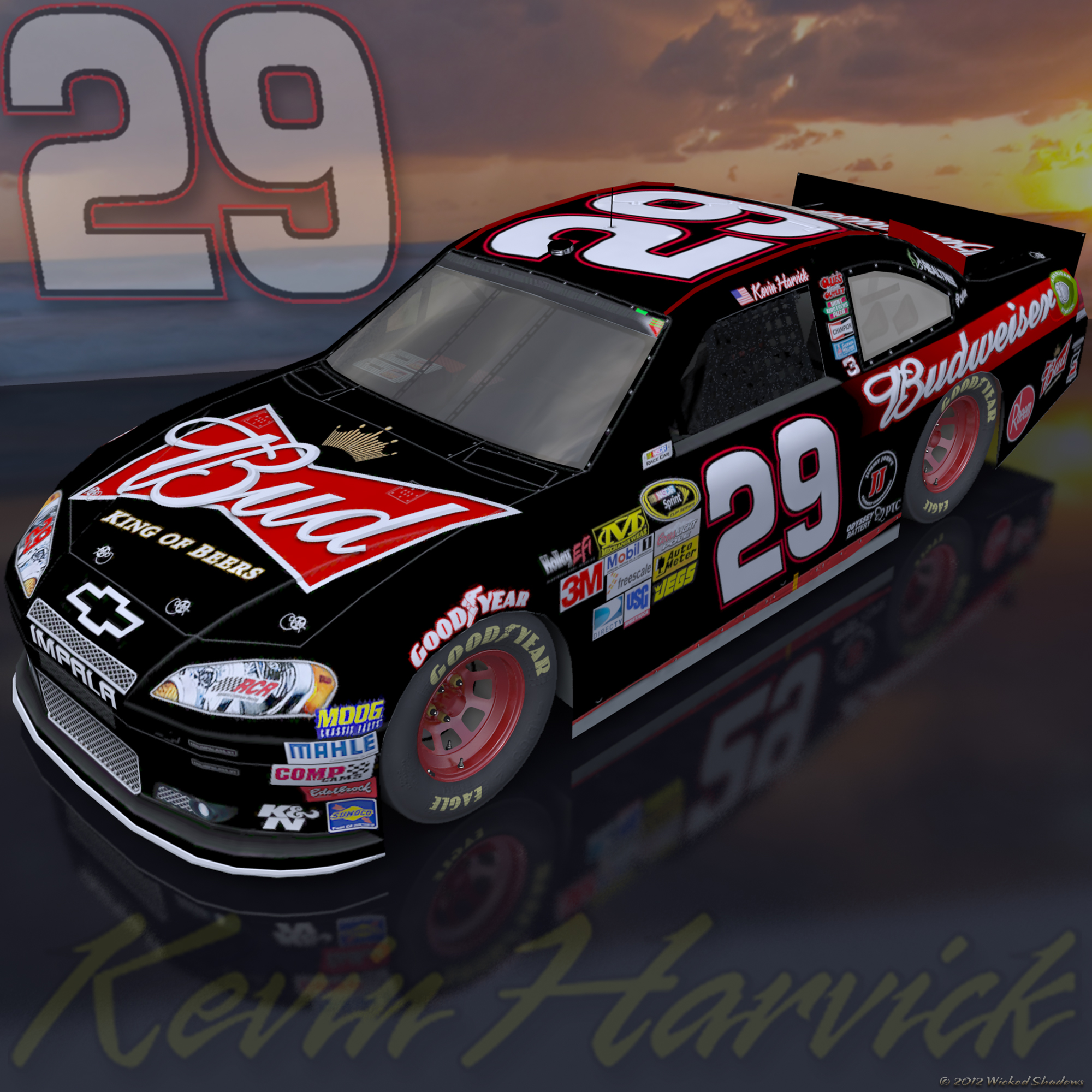 Wallpapers By Wicked Shadows: Kevin Harvick Budweiser