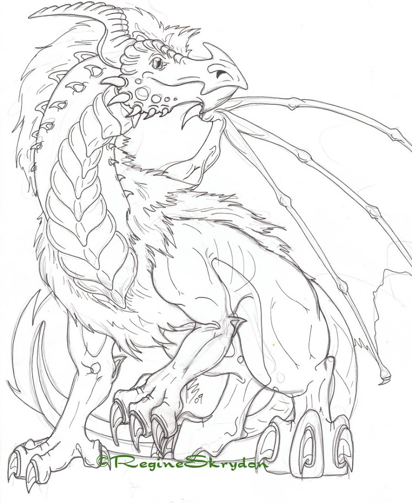 Effortfulg: Cool Dragon Coloring Pages
