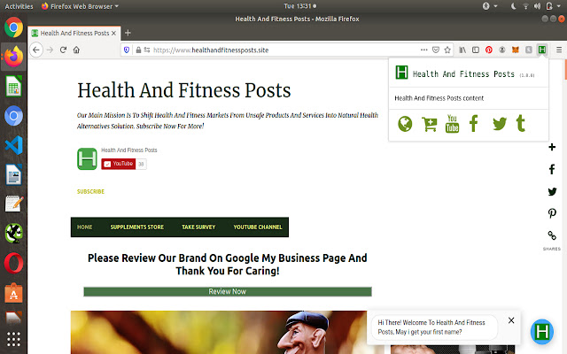 Health And Fitness Posts Launcher