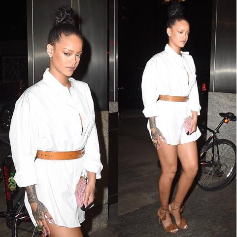 Rihanna wears at Nobu Restaurant
