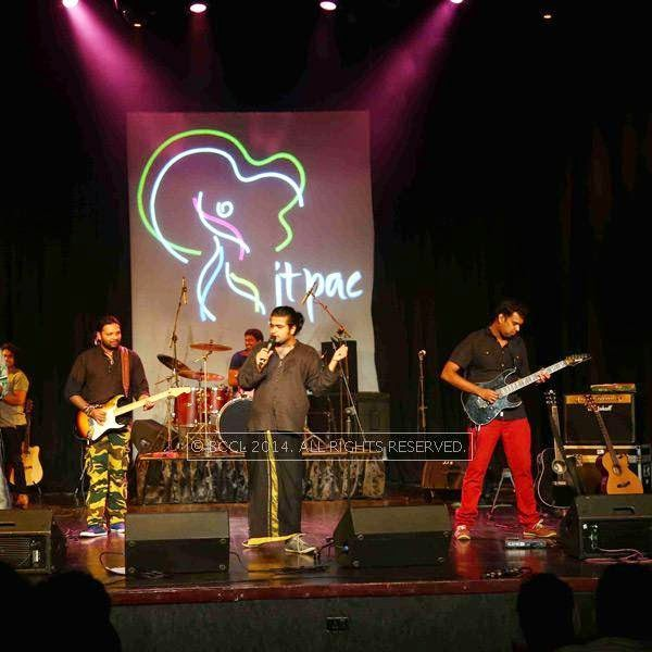 Music band Thaikoodam Bridge performs at JTPAC in Kochi.
