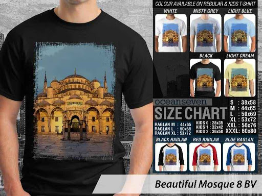 Kaos Muslim Islam Beautiful Mosque 8 distro ocean seven