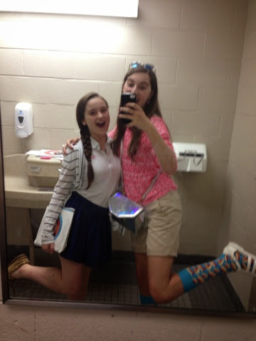 School Bathroom Selfies hello, im sofie.: my week! (spirit week, chorus trip, friends)