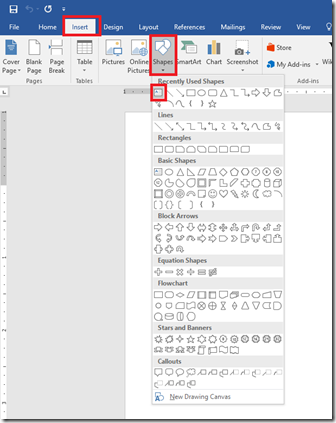 Insert Text Box in Document