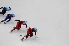 Canada's Charles Hamelin leading the pack