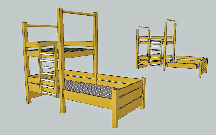 le lit cabane est termin la vid o de sa construction aussi copain des copeaux. Black Bedroom Furniture Sets. Home Design Ideas