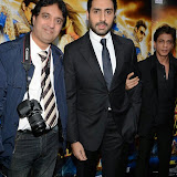 WWW.ENTSIMAGES.COM -   Kishore Bhatt, Abhishek Bachchan and Shah Rukh Khan    at    Happy New Year-SLAM Photo Call at The Montcalm Marble Arch, London October 5th 2014Conference to mark this year's biggest Bollywood film release and the most spectacular, Bollywood live event of the decade respectively, both featuring the industry's most celebrated luminaries. Happy New Year is produced by Red Chillies Entertainments Pvt Ltd and distributed worldwide by Yash Raj Films, releasing on 23rd October.                                                    Photo Mobis Photos/OIC 0203 174 1069