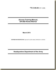 Bell OH-58D Kiowa Aircrew Training Manual