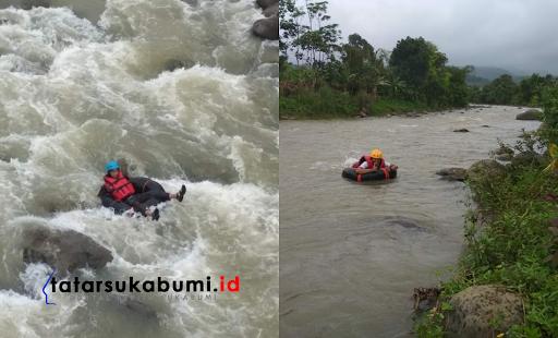 Pacu Andrenalin River Tubing Sungai Cimaja Hingga Muara Palabuhanratu
