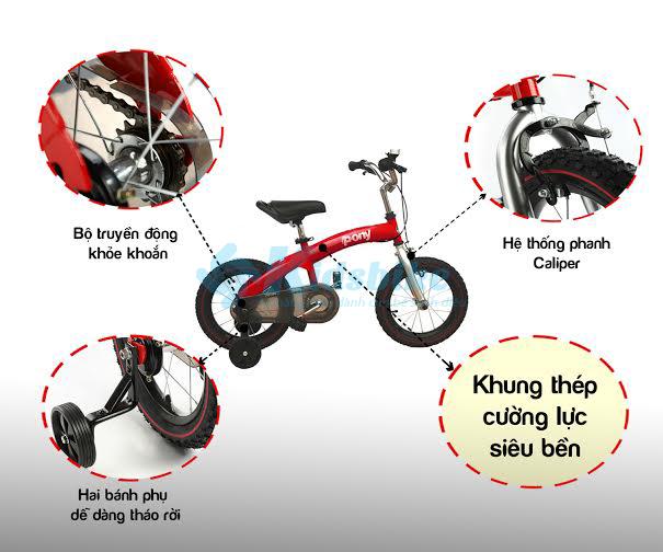 Chi tiết xe đạp trẻ em Royal Baby Pony
