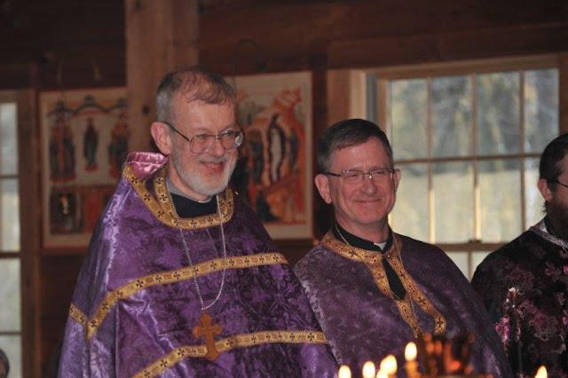 Fr. John Bartholomew from Our Lady of Kazan, Sea Cliff, NY, and Fr. Jonathan Ivanoff from St. John the Theologian, Shirley, NY.