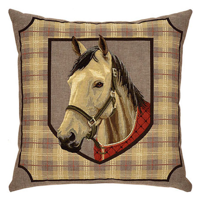 Horse%20and%20Plaid%20Tapestry%20Cushion