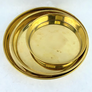 This Co. NEW Brass Set Of 3 Platters