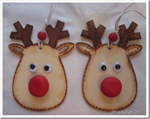 Wooden Rudolph Reindeer Tags.