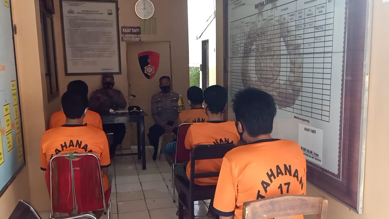 Sat Binmas Polres Soppeng Beri Ceramah dan Tausiyah Kepada Penghuni Rutan