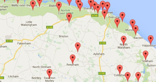 Norfolk Walks Map Griffmonsters Great Walks