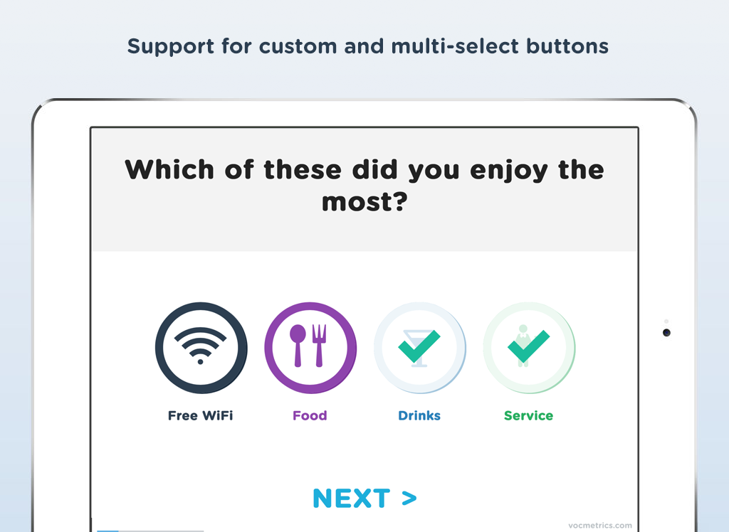 Surveyapp - Smiley survey terminal & feedback app- screenshot