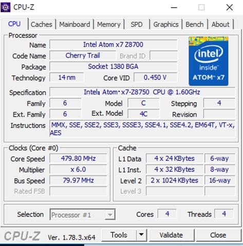 cpu z thumb%25255B2%25255D.png - 【ガジェット】「GPD WIN ゲームパッドタブレットPC」レビュー。Windows 10搭載+ゲームパッドつきのスーパーゲーミングタブレット!【タブレット/ゲームPC/神モバイル】