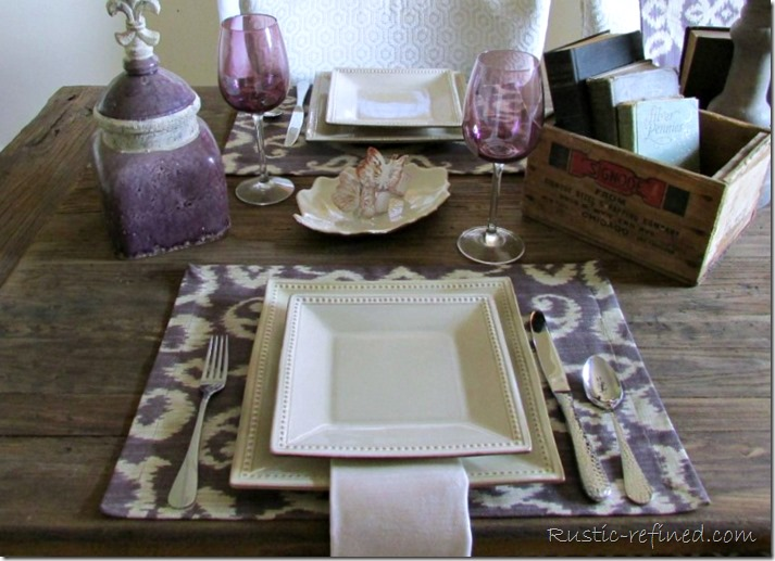 The perfect and easy summer table setting