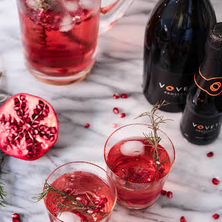 Rosemary Pomegranate Champagne Spritzers.