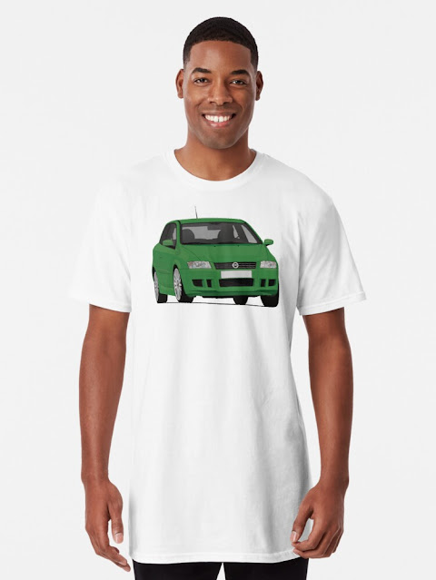 Fiat Stilo Abarth green t-shirt