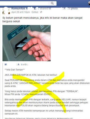 Benar Atau Salah Masukan PIN Terbalik Mesin ATM Bunyi Alarm Tanda Bahaya?