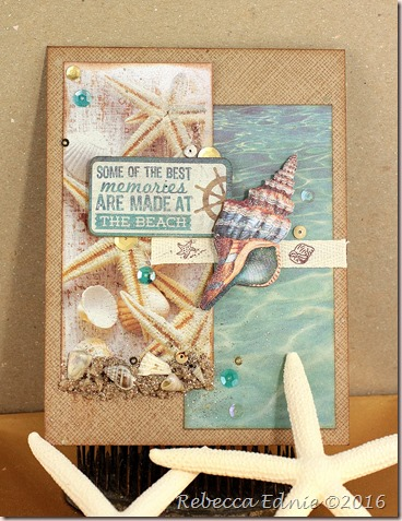 shell beach card