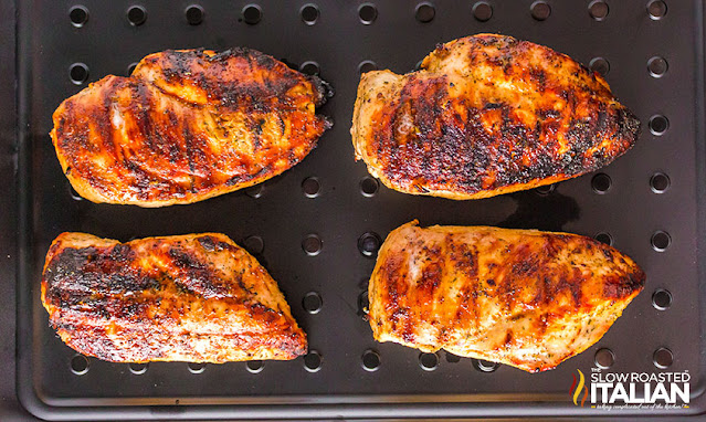 Grilled chicken resting