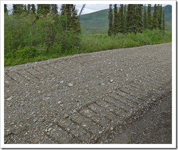 Road Construction washboard, Alaska Highway