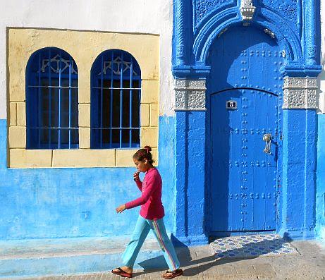 Mädchen in der Kasbah von Rabat