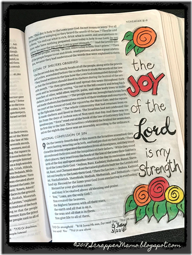Bible Art Neh 8-10 Joy of the Lord