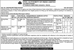 SAIL Collieries Division 2017 indgovtjobs
