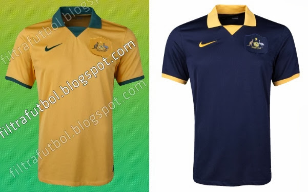 Australia 2014 World Cup Home & Away Kits – Official Release