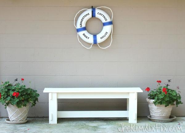 Simple plank bench waterproof