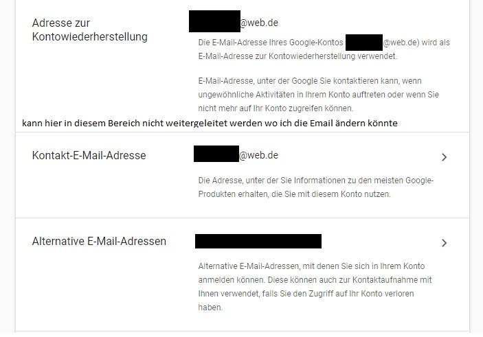 Adresse Zur Kontowiederherstellung ändern Gmail Hilfe