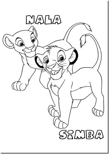 Dibujos de Simba Rey Len para colorear
