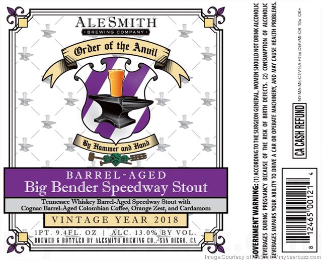 AleSmith Order Of The Anvil - Barrel-Aged Big Bender Speedway Stout