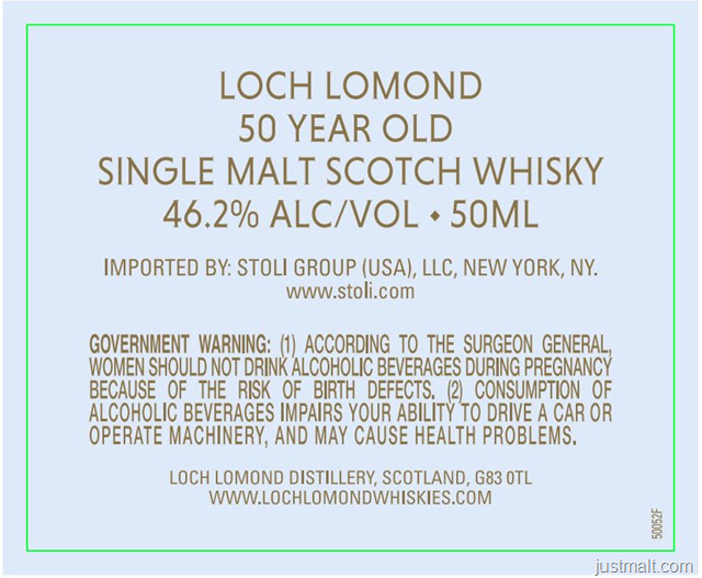 Loch Lomond - 50 Year Old Single Malt Scotch Whiskey