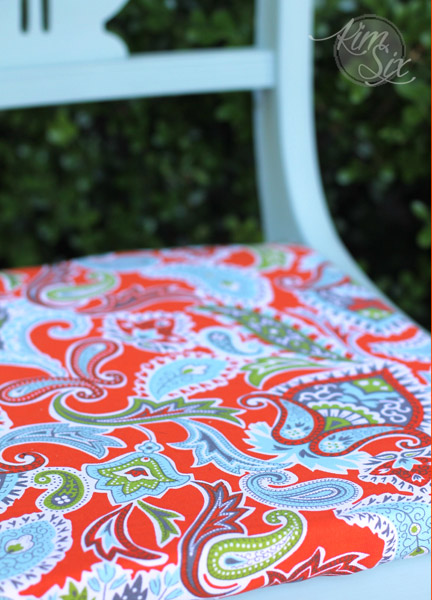 Blue and Orange Paisley chair