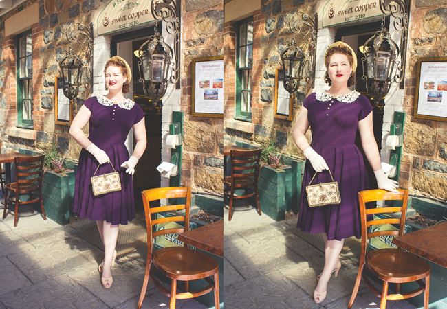 1940's inspired day wear look | Lavender & Twill