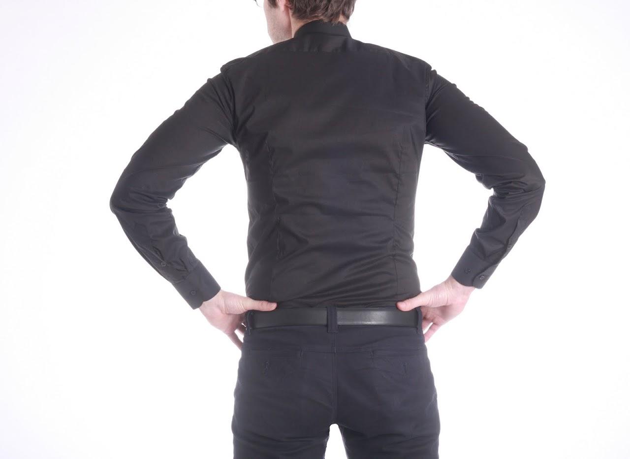 Camasa Calvin Klein Collection, model Slim Fit, pe Negru