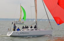J/109s one-design racing on Solent- Warsash spring series