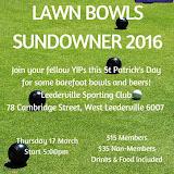 YIPs WA Lawn Bowls Sundowner 2016