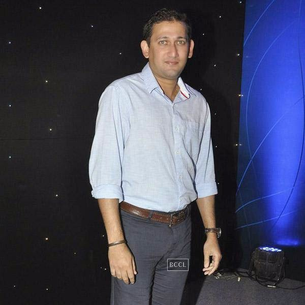 Ajit Agarkar poses for the lens as he arrives for the launch of Pro Sport centre, a fitness training and physiotherapy service centre, held in Mumbai, on July 29, 2014.(Pic: Viral Bhayani)