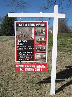 What is the purpose of a sign? To sell the house or attact business to the agent?