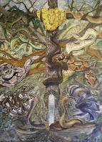 'SchlangenTotem', Öl auf Leinwand, 100x140, 2008