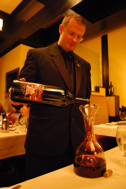 Maitre d' Chet Holstein pours the house blend at The Steakhouse / Credit: Bellingham Whatcom County Tourism