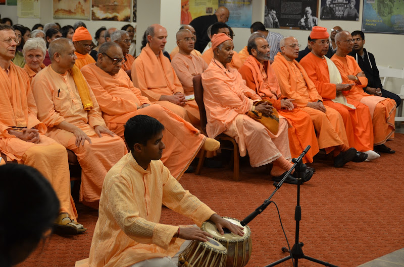 Day 1 Invited Swamijis are seated for arati
