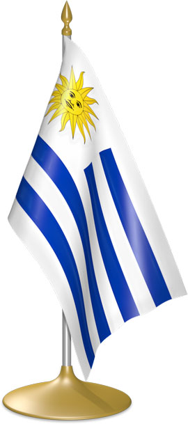 Uruguayan table flags - desk flags