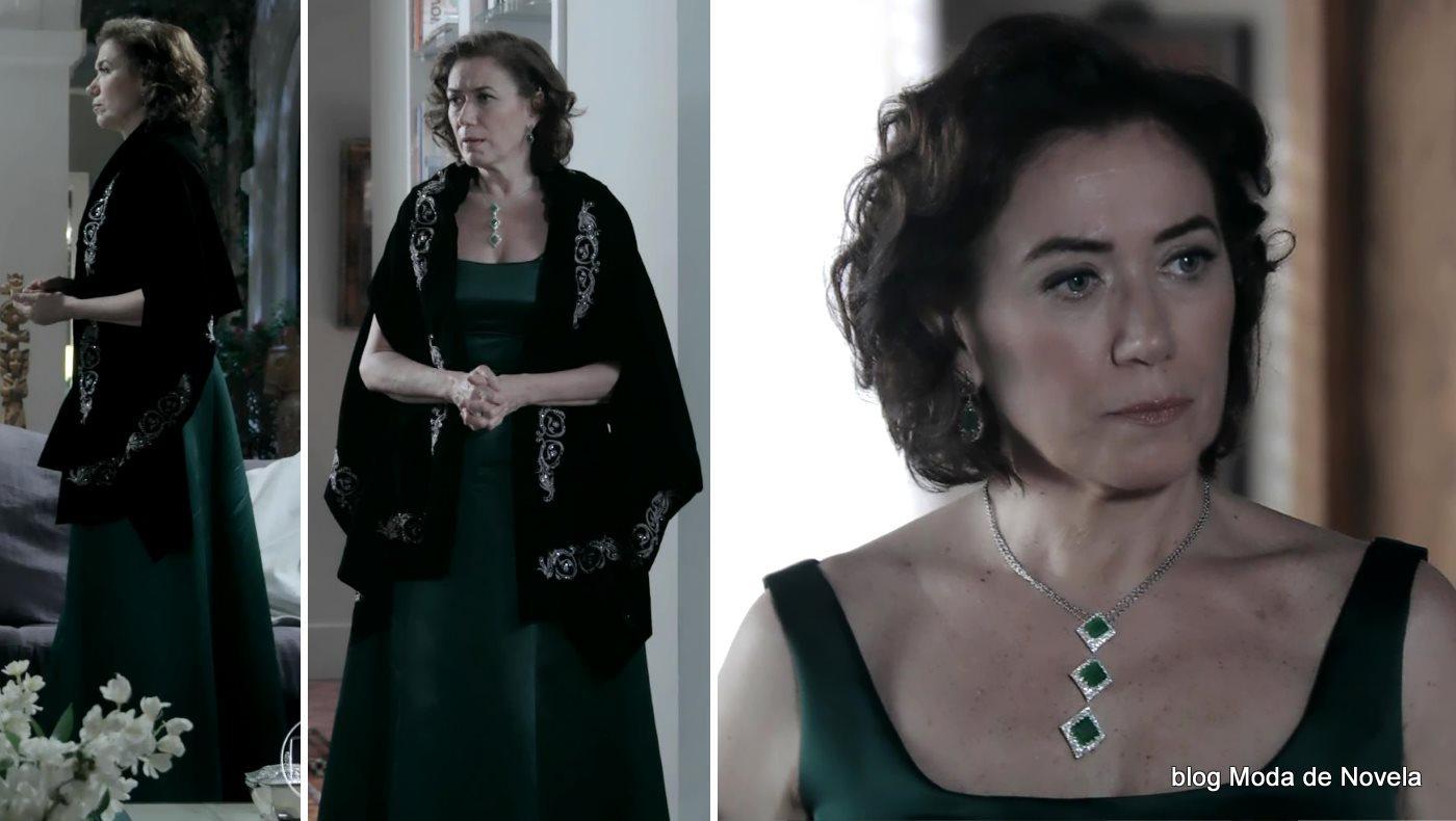 moda da novela Império, look da Maria Marta dia 22 de outubro